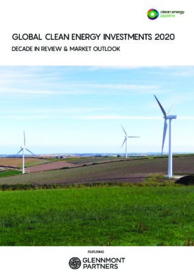 Market report cover image: Global Clean Energy Investments 2020: Decade in Review & Market Outlook