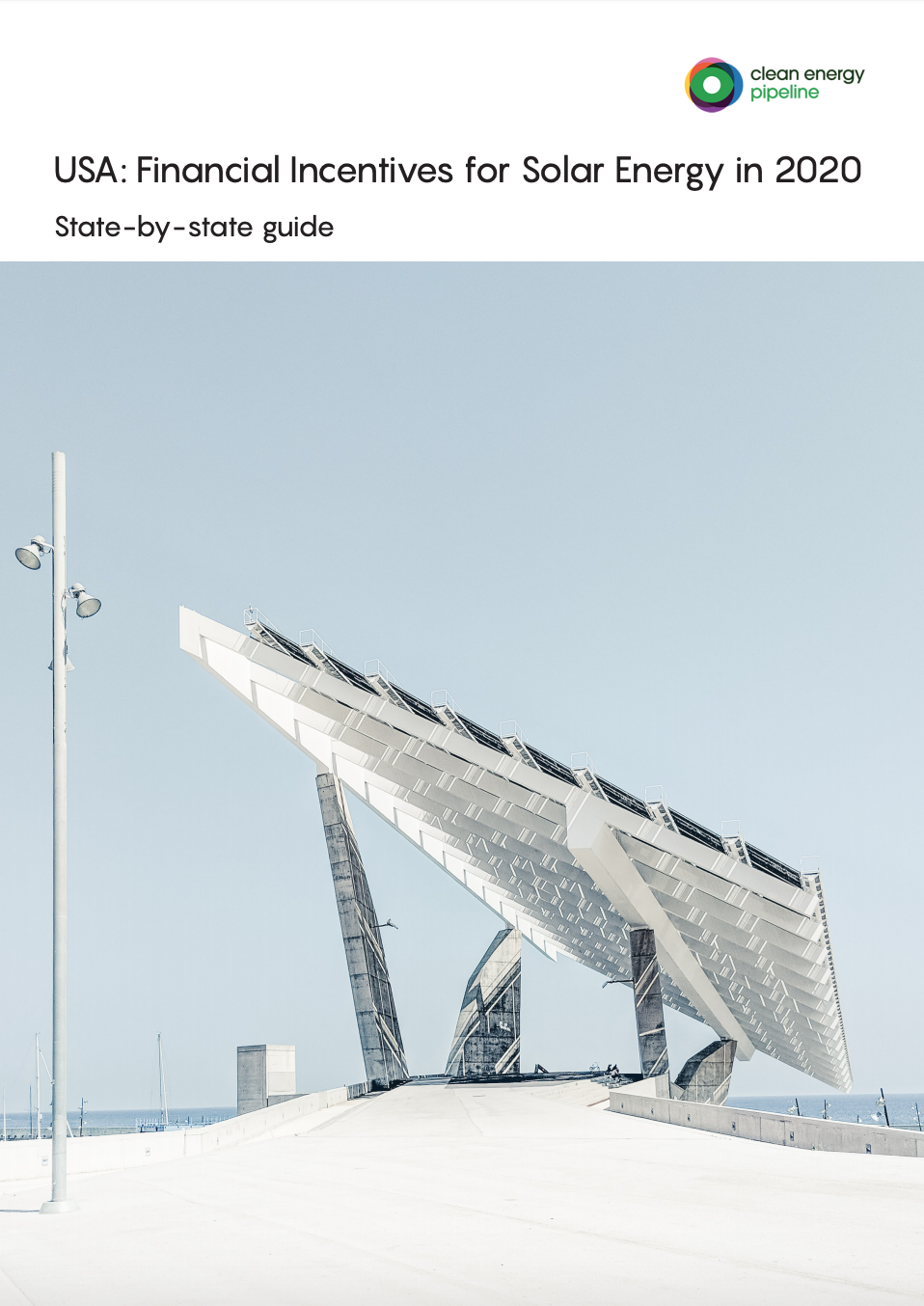 Market report cover image: USA: Financial Incentives for Solar Energy in 2020 – State-by-state Guide