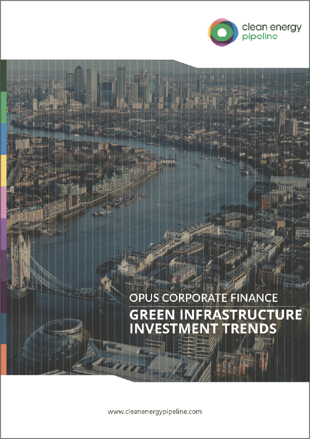 Market report cover image: Opus Corporate Finance: Green Infrastructure Investment Trends