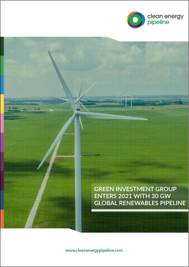 Market report cover image: Green Investment Group enters 2021 with 30 GW global renewables pipeline