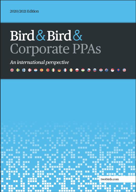 Market report cover image: Bird & Bird & Corporate PPAs: An International Perspective 2020/2021