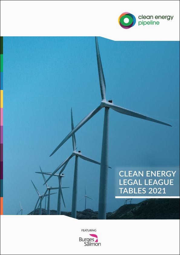 Market report cover image: Clean Energy Legal League Tables 2021